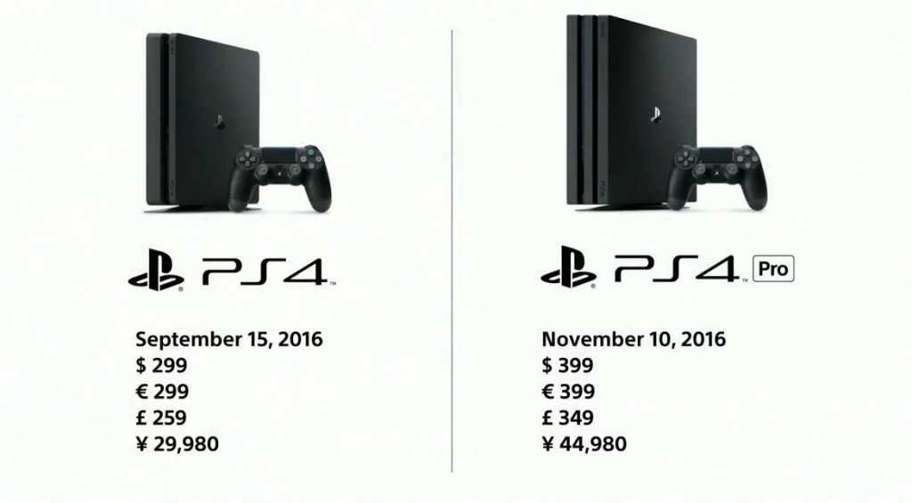 PS4 Pro et PS4 Slim