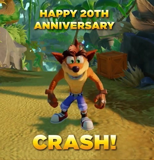 anniversaire crash bandicoot