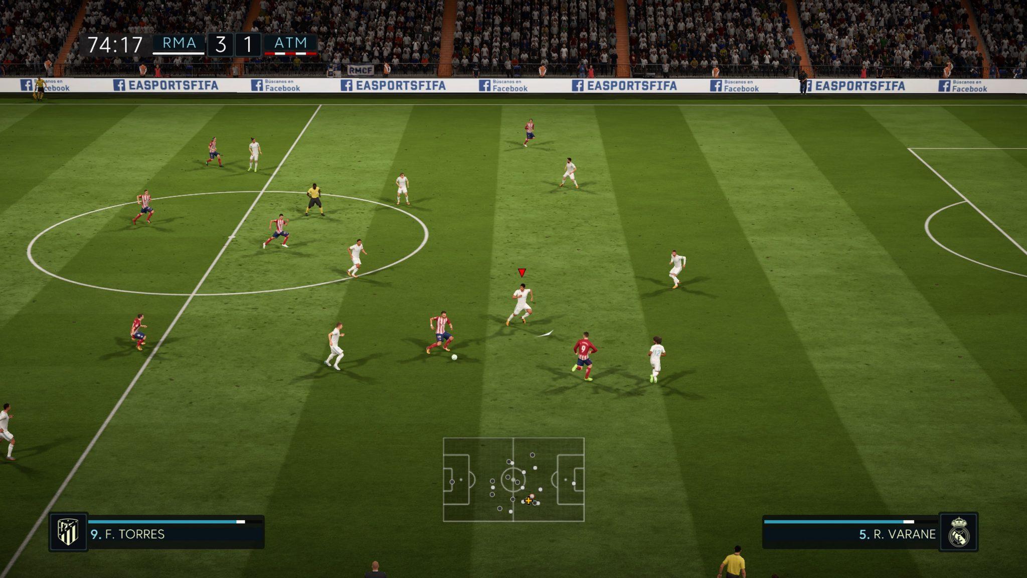 test de fifa 18 sur PS4