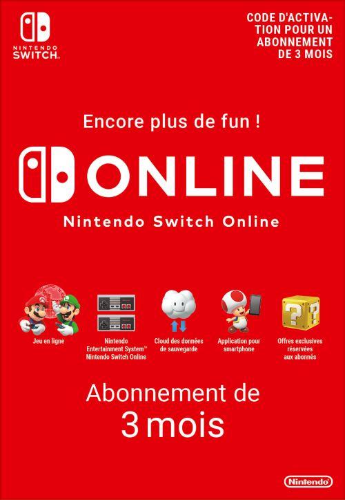 3 mois d'abonnement au Nintendo Switch Online offerts