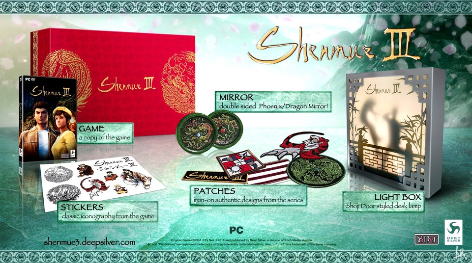 édition collector de shenmue 3 sur PS4