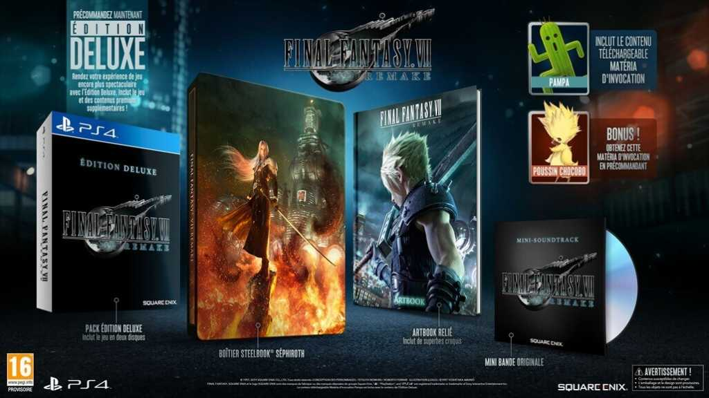 précommande de Final Fantasy VII Remake Deluxe Edition