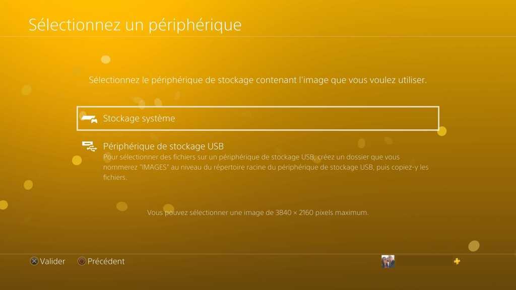 comment changer le fond d'écran de sa PS4