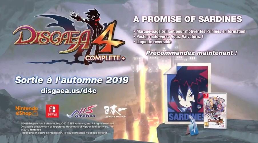 """Détails de l'édition """"A promise of sardines"""" de Disgaea 4 Complete+"""
