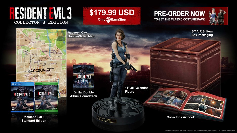 Edition collector de Resident Evil 3 remake