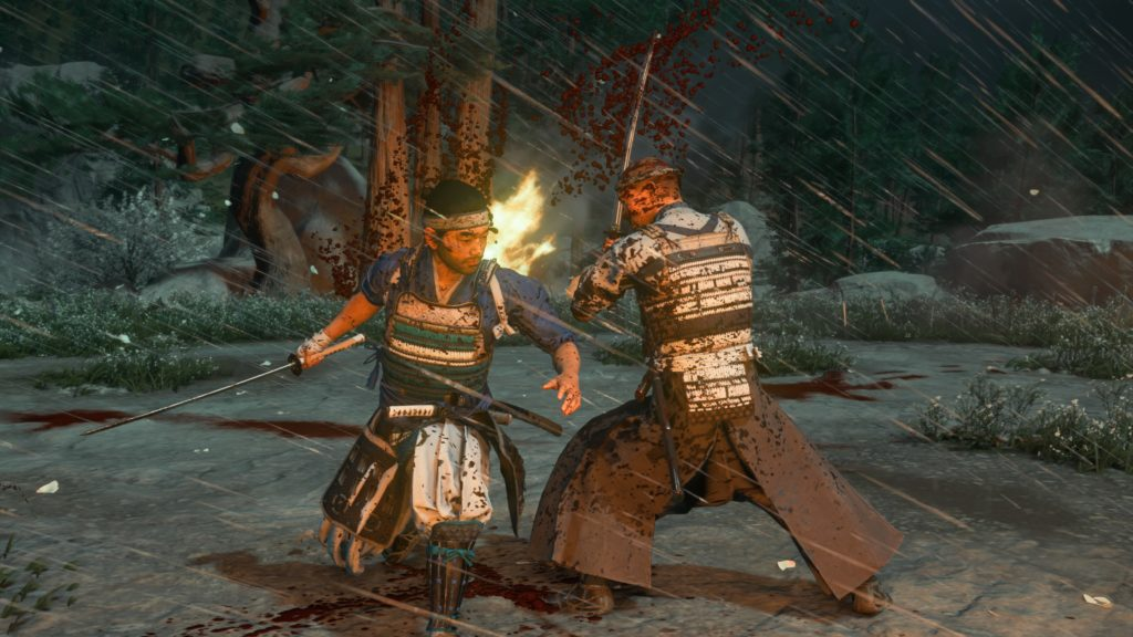 duel dans ghost of tsushima