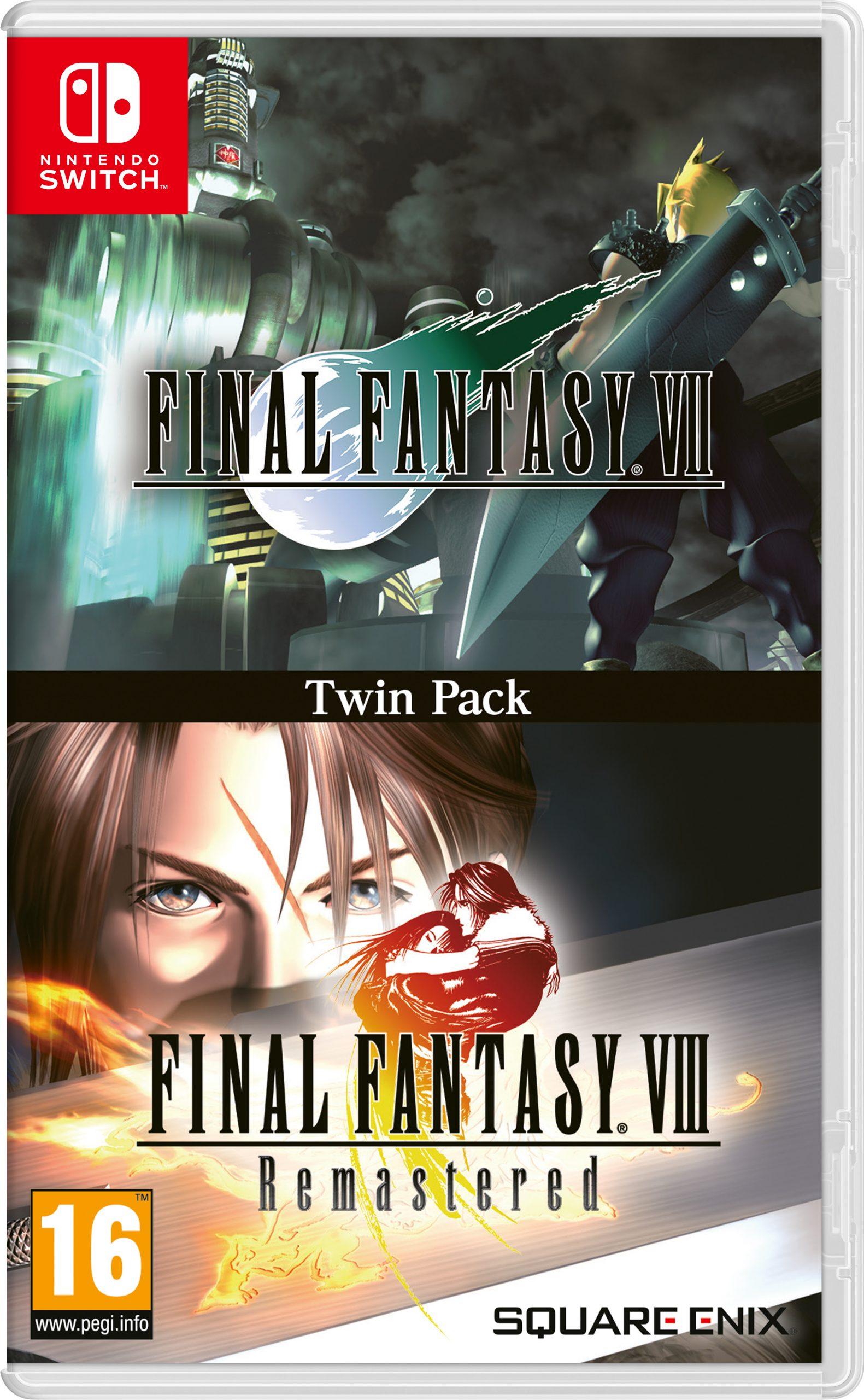 jaquette Twin Pack FINAL FANTASY VII et FINAL FANTASY VIII Remastered