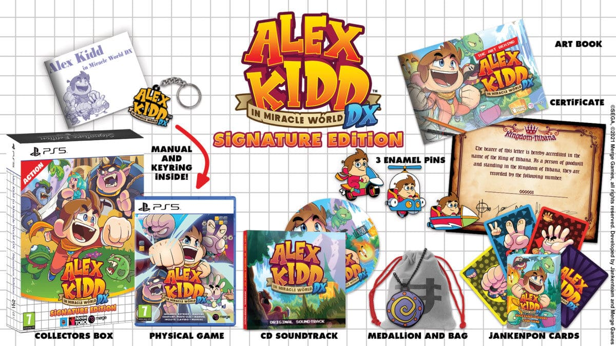 Alex Kidd In Miracle World Dx Signature Edition sur PS5